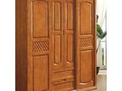 实木衣柜4门 环保橡木家具 平推衣柜