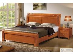 全实木床1.5 1.8米中式家具 婚床 双人床 橡木床