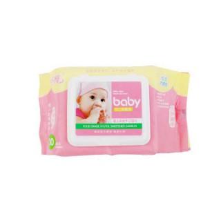 圣雅30p宝贝粉色系列婴儿安全手口湿巾(盖装)