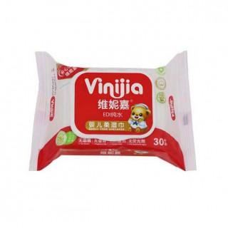 维妮嘉30片婴儿湿巾 盖装