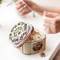 乌克兰UGEARS木质机械传动模型珠宝首饰盒女520表白礼物走心的生日礼物送女孩子成人礼送老婆送女友 珠宝首饰盒