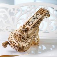 乌克兰Ugears木质机械传动模型拼装卡车火车轨道创意手工成人玩具送男友生日礼物 手摇风琴