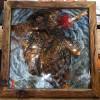 《张飞》金属浮雕画