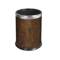 包黃褐色人造皮垃圾桶
