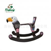 木制儿童玩具木马摇椅动物造型婴儿宝宝摇晃文具车可拆卸结实稳固