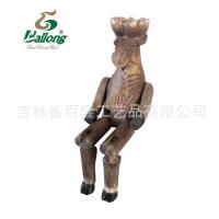 厂家直销手工木雕工艺装饰品动物造型摆件纪念品礼品木雕动物吊腿