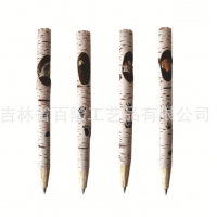 厂家定制创意木雕动物笔库存手工雕刻木头笔木质工艺圆珠木雕笔