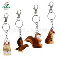 厂家定制手工雕刻动物钥匙链创意家居木雕钥匙链景区礼品钥匙扣