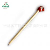 厂家定制创意木雕动物铅笔库存手工木头笔木质景区热卖木雕铅笔
