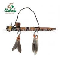 厂家直销木制工艺品礼品烟袋手工雕刻动物头烟袋装饰品景区纪念品