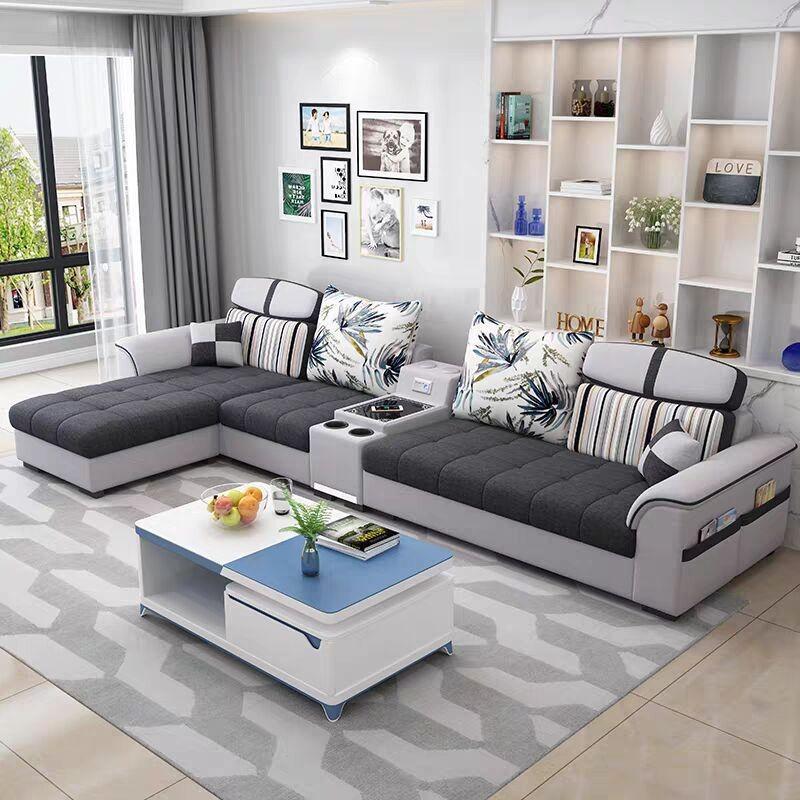 小户型简约现代布艺沙发客厅经济型整装组合套装网红款科技布沙发