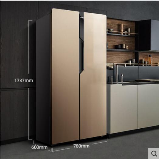 对开门冰箱电脑温控家用节能双门冰箱双开门电冰箱