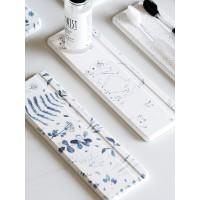 蓝莲花家居硅藻泥吸水垫洗手台牙刷杯垫藻泥