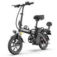 折叠电动车自行车成人男女士小型代步新国标助力锂电代驾电瓶单车