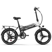 折叠电动车自行车成人男女士小型代步铝合金助力锂电代驾电瓶单车