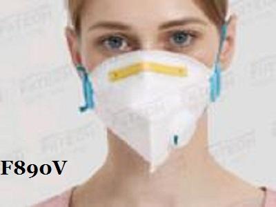FFP3折叠型防护口罩(呼吸阀)/FDA CE  EUA