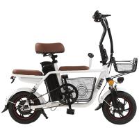 亲子电动车自行车成人男女士小型代步新国标助力锂电代驾电瓶单车