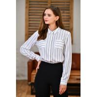 女士条纹衬衫D2394#